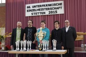 Im vierten Anlauf endlich geschafft: Erstmalig Meister von Unterfranken: FM Fabian Englert vom SK Klingenberg