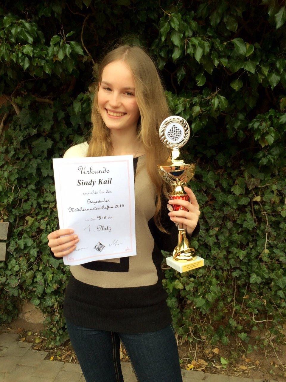 Sindy Kail erneut bayerische Jugendmeisterin in der U16w